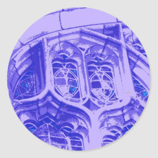 Tracery in Purple at Bond Chapel Round Sticker
