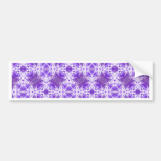 Tracery of Snow Flakes Car Bumper Sticker