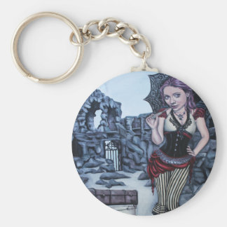 traces of my mistakes steampunk faery keychain