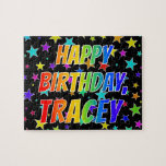 """[ Thumbnail: """"Tracey"""" First Name, Fun """"Happy Birthday"""" Jigsaw Puzzle ]"""