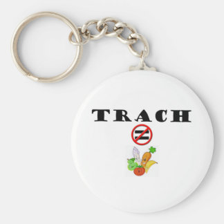 Trach Does NOT = Vegetable Keychain