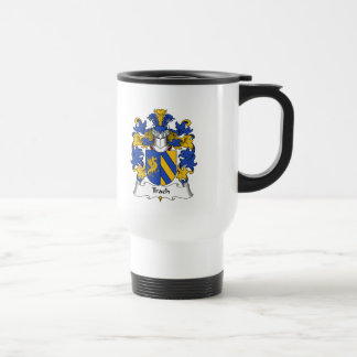 Trach Family Crest 15 Oz Stainless Steel Travel Mug