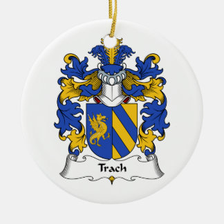 Trach Family Crest Christmas Ornament