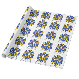 Trach Family Crest Gift Wrapping Paper