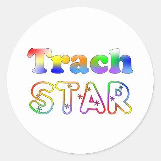 Trach Star Round Stickers