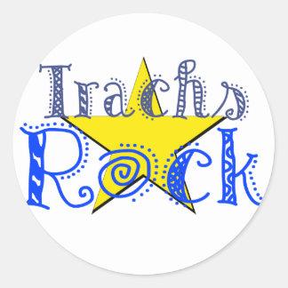 Trachs Rock Round Sticker