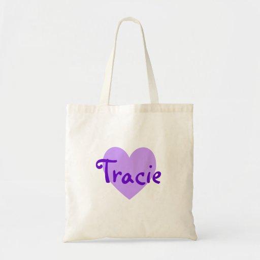 Tracie en púrpura bolsas de mano