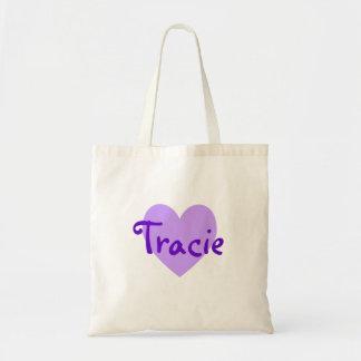 Tracie in Purple Tote Bags