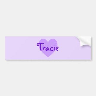 Tracie in Purple Bumper Sticker