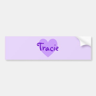 Tracie in Purple Car Bumper Sticker