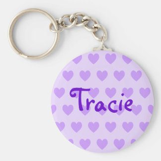 Tracie in Purple Key Chains
