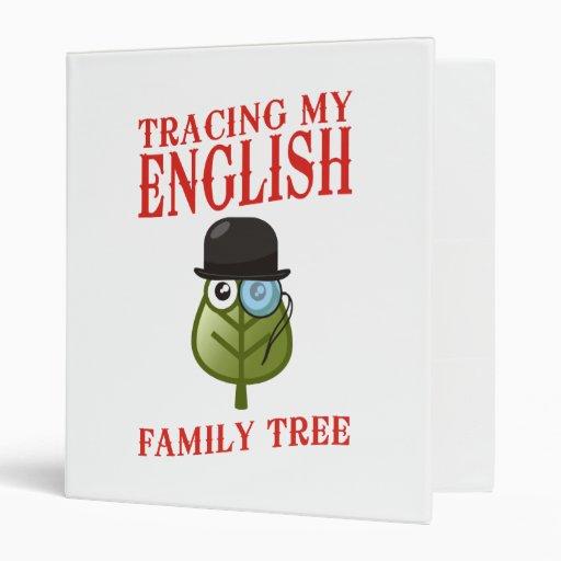 Tracing My English Family Tree 3 Ring Binders