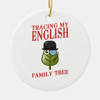Tracing My English Family Tree Ceramic Ornament