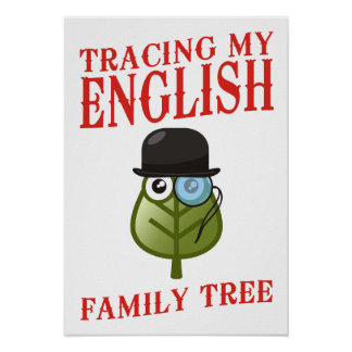 Tracing My English Family Tree Poster