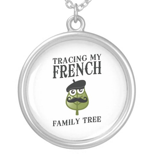 Tracing My French Family Tree Round Pendant Necklace