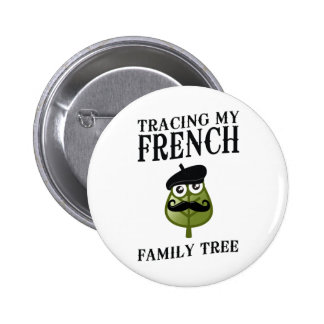 Tracing My French Family Tree Pinback Button