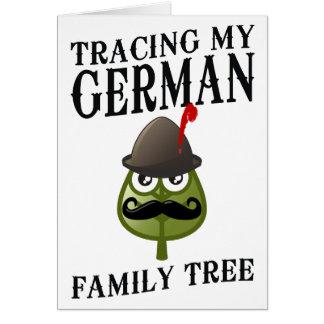 Tracing My German Family Tree Card
