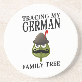 Tracing My German Family Tree Drink Coasters