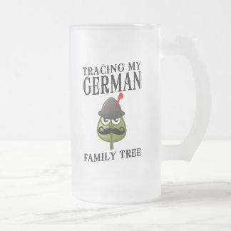 Tracing My German Family Tree Frosted Glass Beer Mug