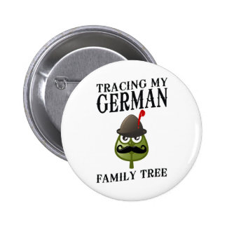 Tracing My German Family Tree Pinback Button