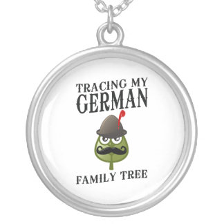 Tracing My German Family Tree Silver Plated Necklace