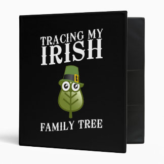 Tracing My Irish Family Tree 3 Ring Binder