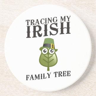 Tracing My Irish Family Tree Beverage Coaster