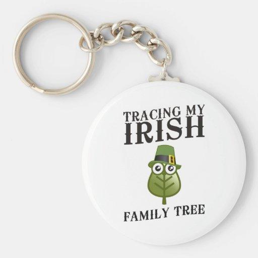 Tracing My Irish Family Tree Keychains
