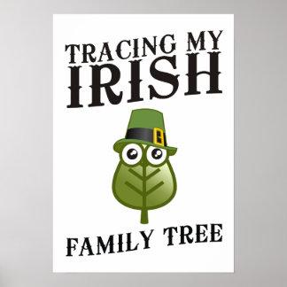 Tracing My Irish Family Tree Print
