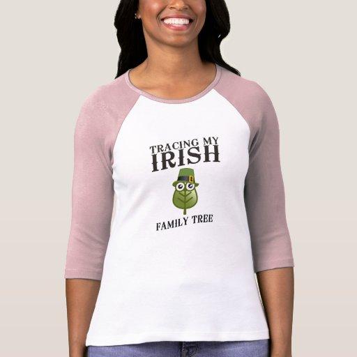 Tracing My Irish Family Tree Tee Shirts
