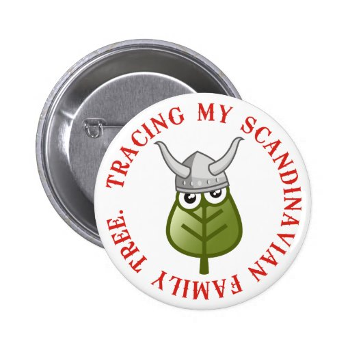 Tracing My Scandinavian Family Tree 2 Inch Round Button