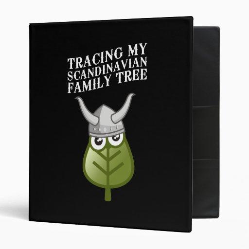 Tracing My Scandinavian Family Tree Vinyl Binders