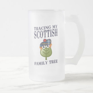 Tracing My Scottish Family Tree 16 Oz Frosted Glass Beer Mug