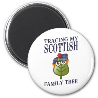 Tracing My Scottish Family Tree 2 Inch Round Magnet