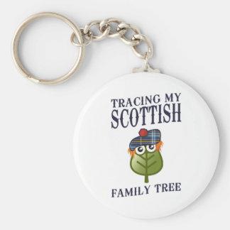 Tracing My Scottish Family Tree Basic Round Button Keychain