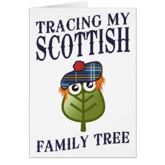 Tracing My Scottish Family Tree Greeting Card