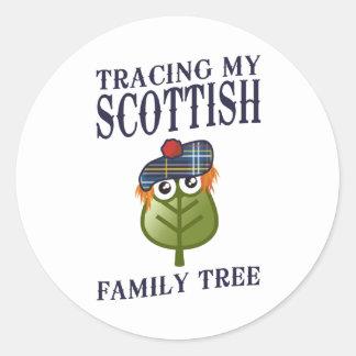 Tracing My Scottish Family Tree Classic Round Sticker