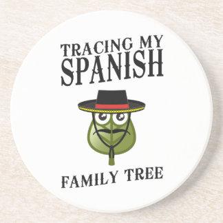 Tracing My Spanish Family Tree Beverage Coaster