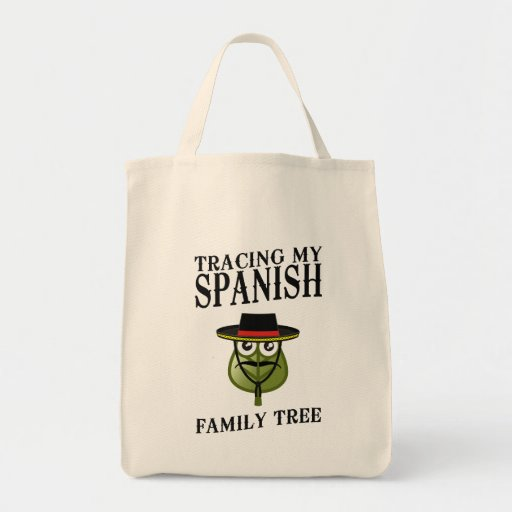 Tracing My Spanish Family Tree Grocery Tote Bag