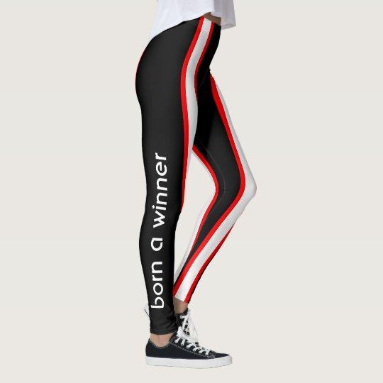 65adc10c2f0f0e Track and Field Aerobic Workout Leggings | Zazzle.com
