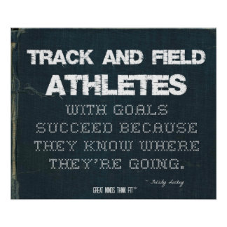 Track and Field Athletes with Goals Succeed: Denim Poster