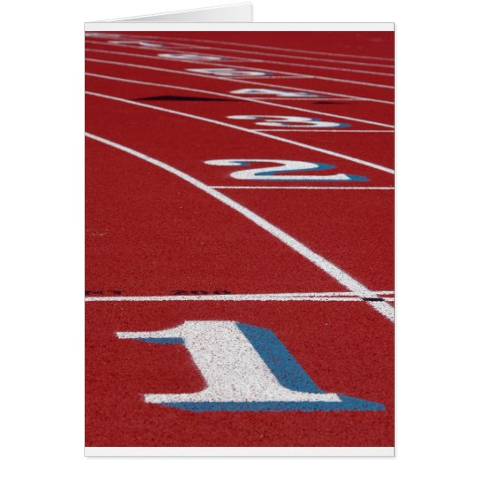 Track And Field Card