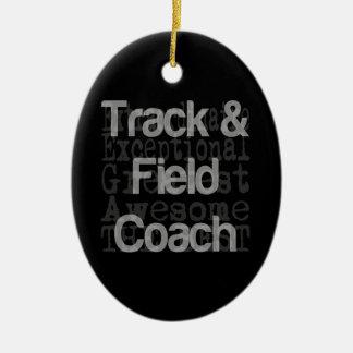 Track and Field Coach Extraordinaire Ceramic Ornament