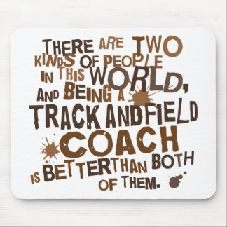 Track and Field Coach Gift Mouse Pad