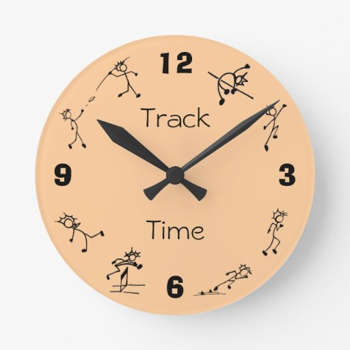 Track and Field Events Clock Multi Combined Events