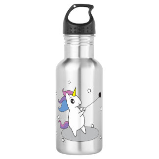 Track and Field Hammer Throw Unicorn Water Bottle