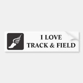 Track and Field Icon Car Bumper Sticker