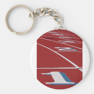 Track And Field Basic Round Button Keychain