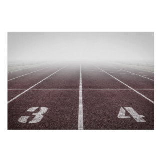 Track and field mist poster