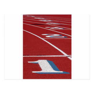 Track And Field Postcard